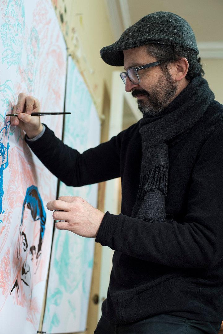 César Gabler. Retrato @PabloIzquierdoSilva © 2020 Cortesía de MAVI y LADOSUR Comunicaciones