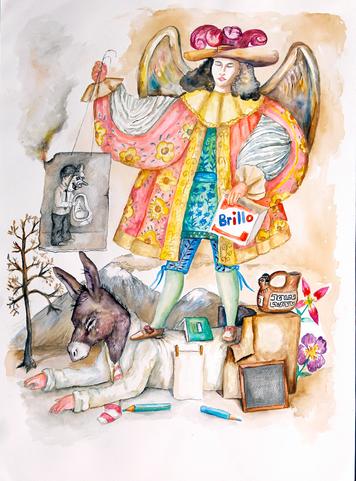 ANTONIO GUZMÁN La caja Brillo del Ángel arcabucero, 2017