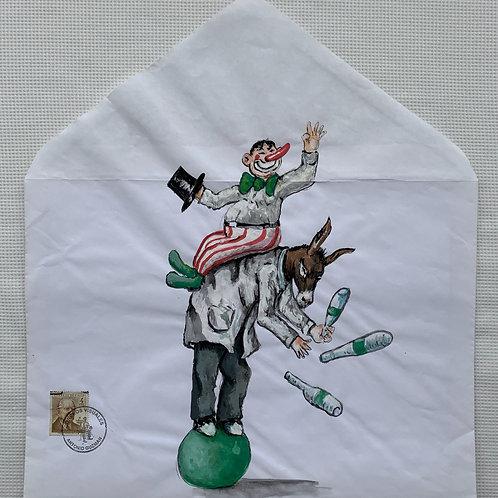 ANTONIO GUZMÁN, El Circo, 2010 tempera y sobre de papel, 37 x 33,8 cm.