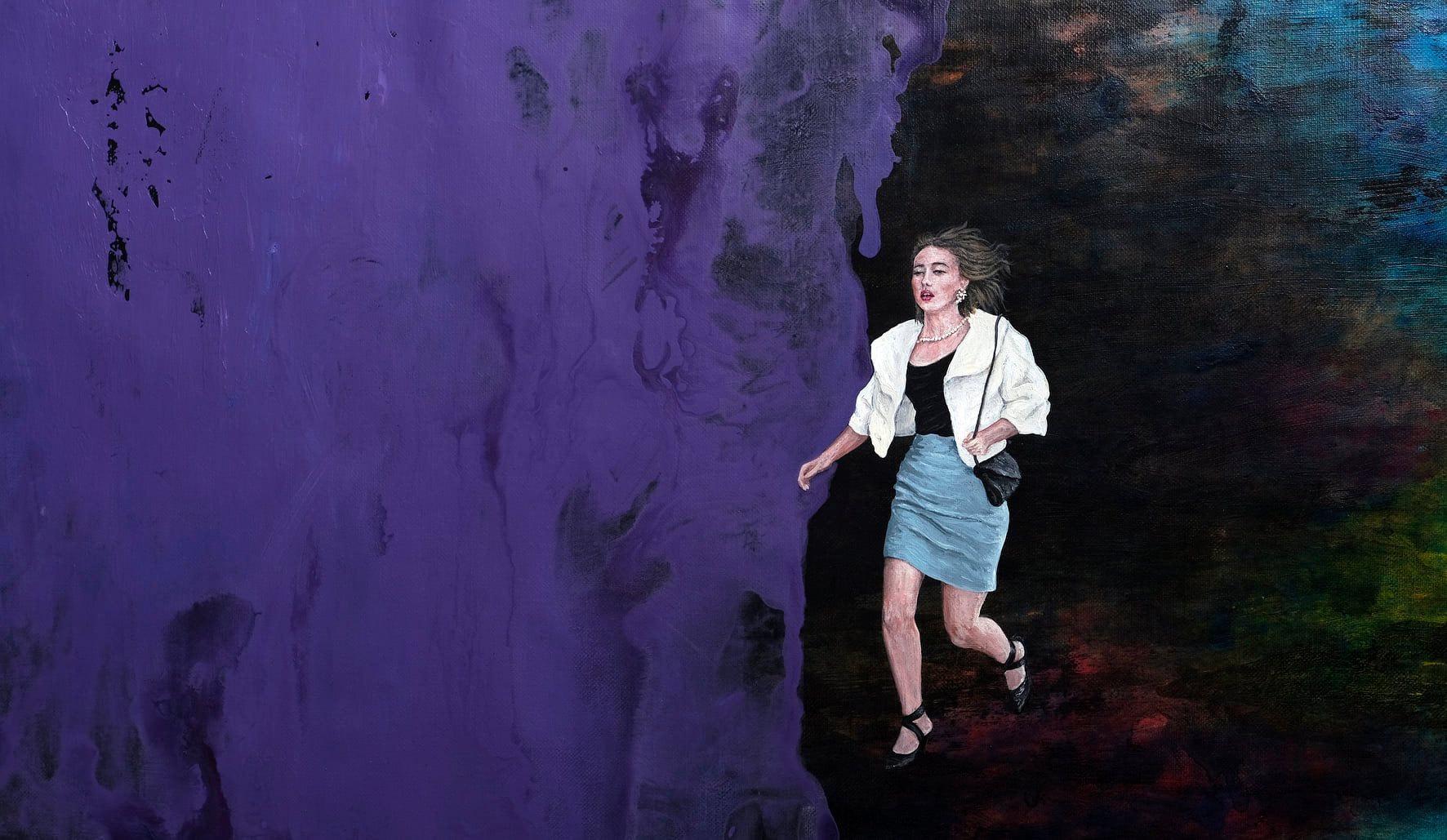 Vista obra de Camila Valenzuela von Appen. Pintura sobre lino. Varsovia, noviembre de 2020 © 2020.