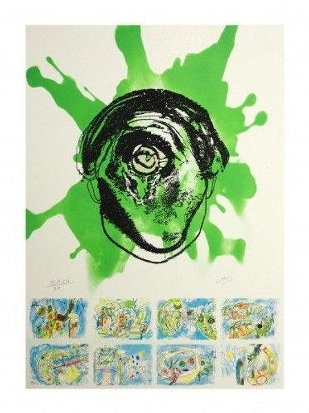 ROBERTO MATTA, homenaje a Federico García Lorca,1999, Litografía, 68x48 cm.