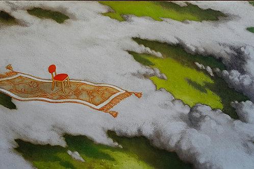 JORGE ZAMBRANO, S/t, Óleo sobre tela 30x50 cm.