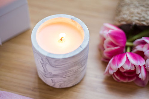 Marbled Stone Candle