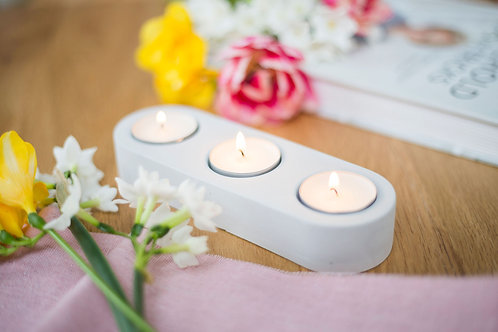 Stone Tea Light Holder