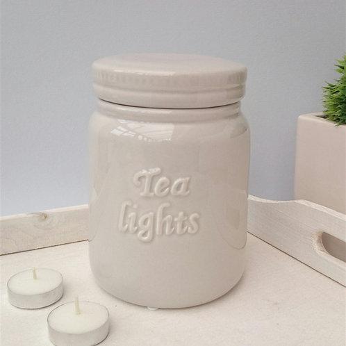 Tea light Storage Jar