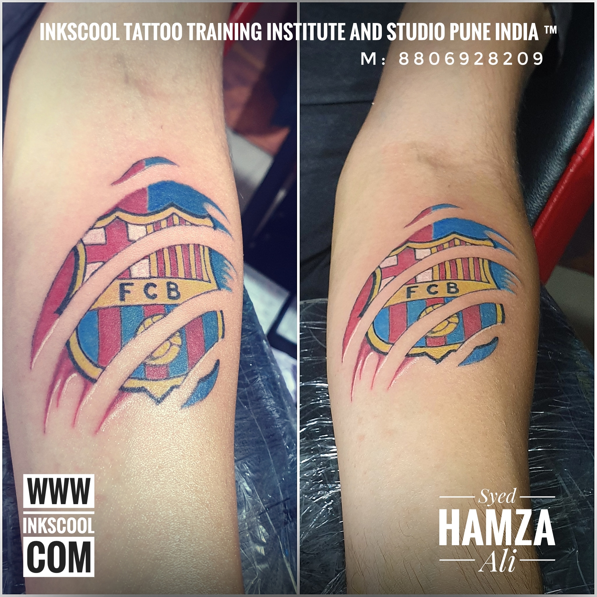 Inkscooltattoos_fcb_football_tattoo