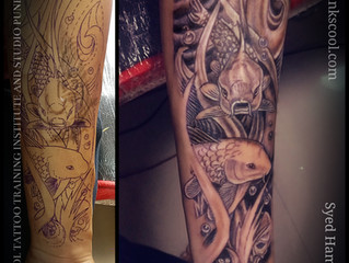 The Underwater Koi Fish Themed Cover up by Syed Hamza Ali