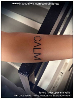 calm tattoo by Inkscool tattoo pune