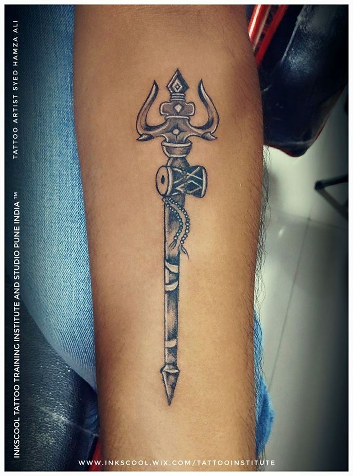 trishul tattoo by Inkscool tattoos