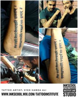 mantra tattoo Inkscool tattoo pune