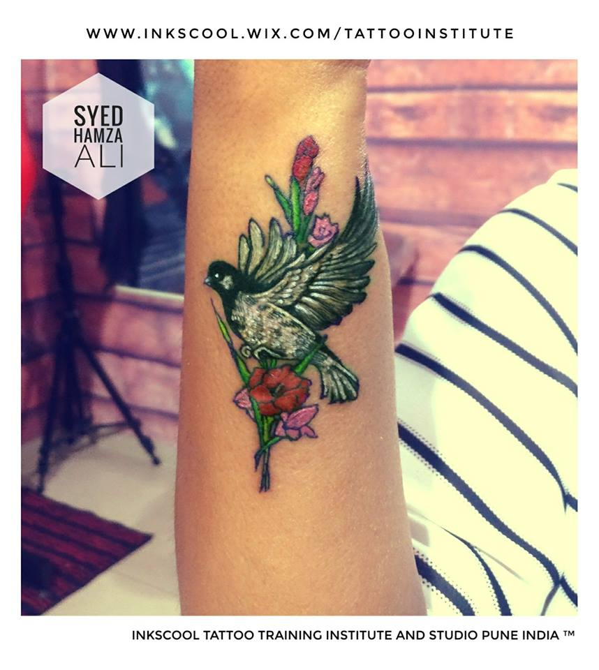 bird tattoo by Inkscool tattoos pune