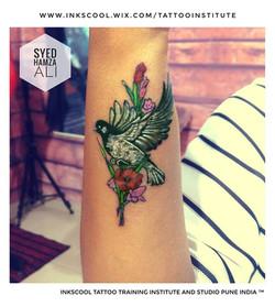 bird tattoo by Inkscool tattoos pune
