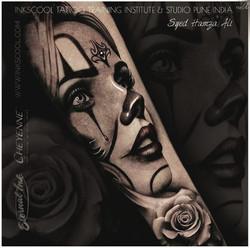 Inkscooltattoos_clowngirl_tattoo