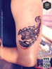 The Lion-Scorpion Tattoo Design by Syed Hamza Ali at INKSCOOL Tattoo Training Institute And Studio ™