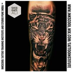 tiger tattoo by Inkscool tattoo pune