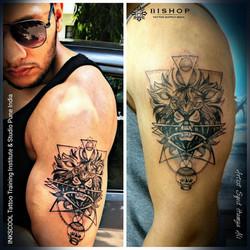 lion tattoo by Inkscool tattoo pune