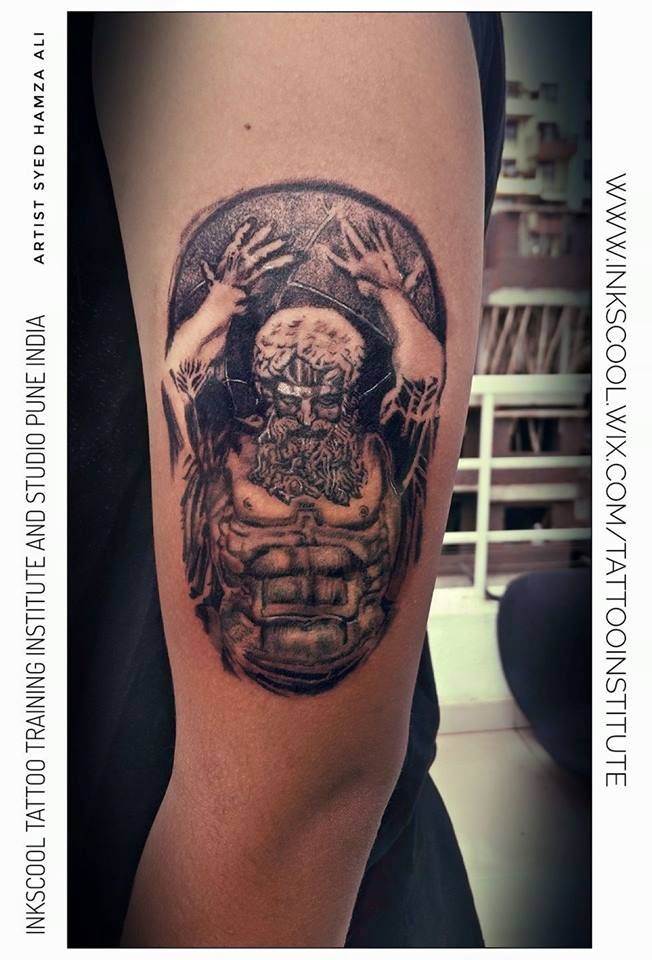 atlas tattoo by Inkscool tattoo pune