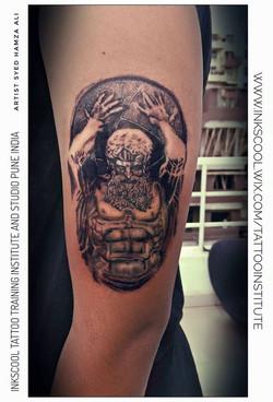 atlas tattoo by Inkscool tattoo pune