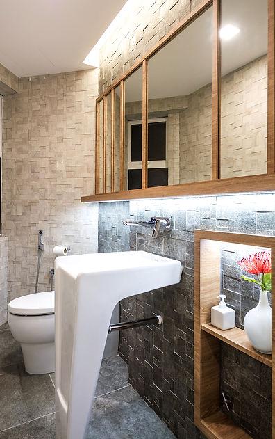 Master Bathroom Powder Interior Design Malaysia Kuala Lumpur Bandar Utama BU9