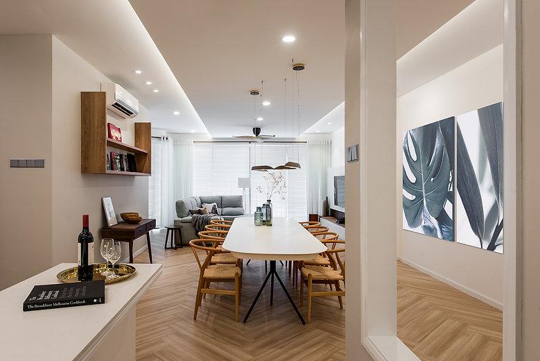 Living Room Dining Interior Design Malaysia Kuala Lumpur Bangsar