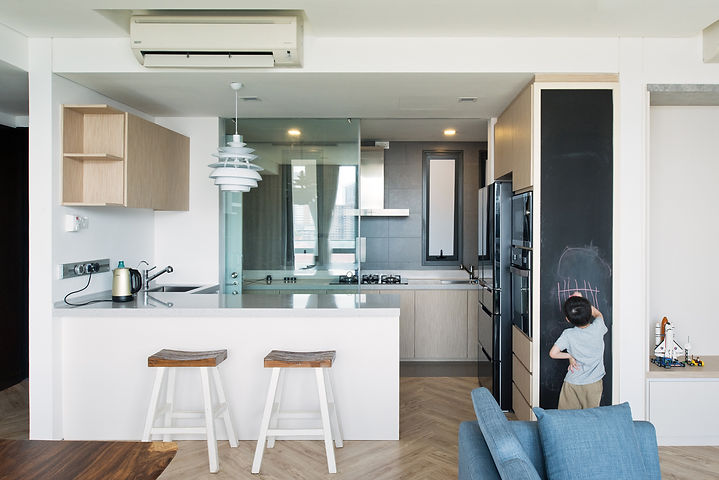 Interior Design Malaysia Kuala Lumpur Sentul Capers Livng Dry Kitchen Island