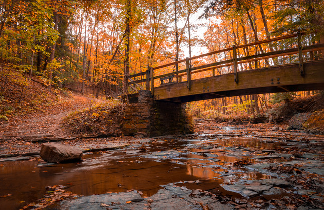Bridal Veil in the fall