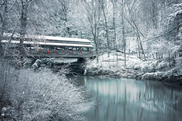 Covered bridge at Milcreek Mill