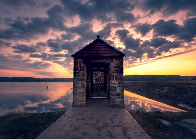 Gatehouse on Pymatuning Reservoir that i
