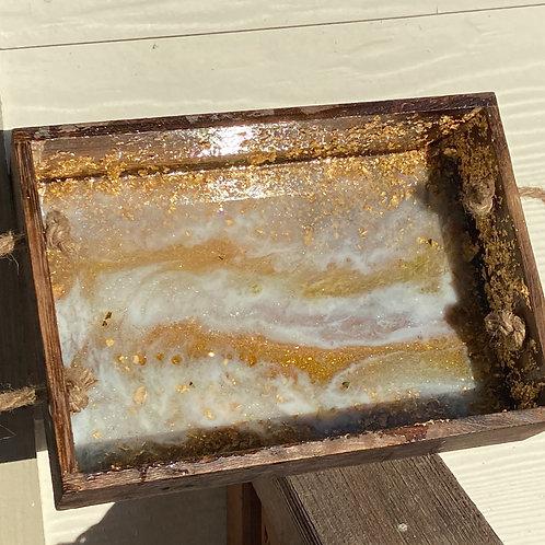 Golden Resin Tray