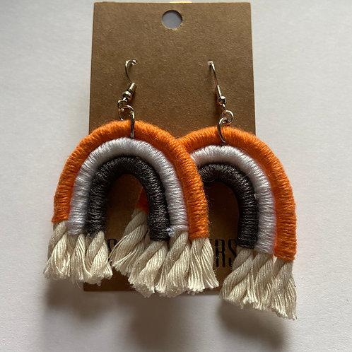 Go Vols! Rainbow earrings
