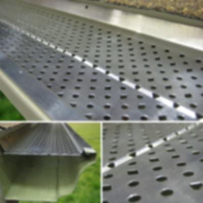 Aluminum leaf guard for K-style gutters