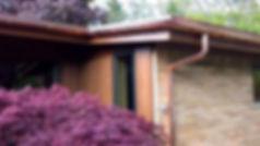 Copper half-round gutters