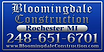 Bloomingdale Constructon