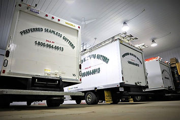 Preferred Seamless Gutters installation truck fleet