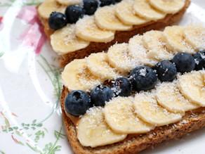 PB blueberries toast