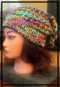 Skittles Slouchie Hat