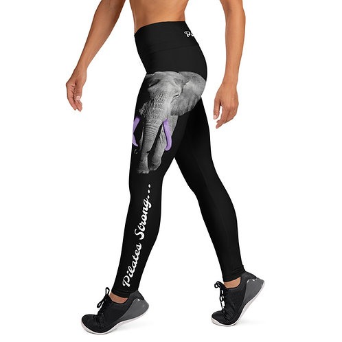 Purple Tusked Elephant  - Pilates Strong Pilates & Yoga Leggings