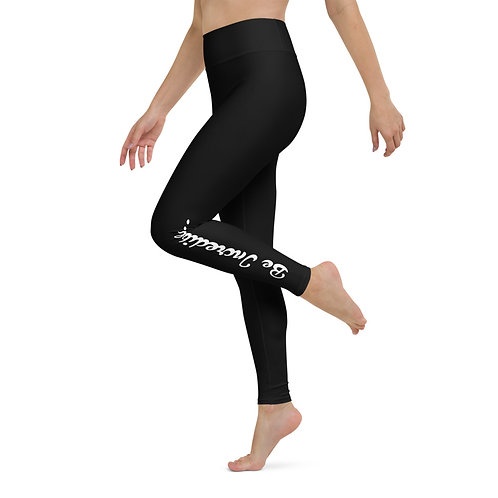 Be Incredible - Black - Pilates & Yoga Leggings
