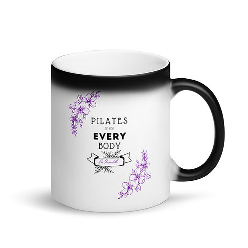 Pilates is for Every Body - Matte Black Magic Mug