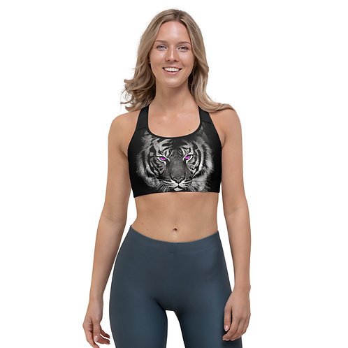 Sports bra - Purple Eyed Tiger - Pilates Strong