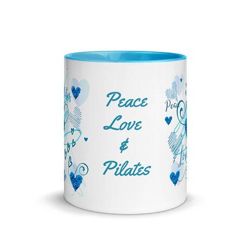 Peace, Love & Pilates - Blue Inner Mug