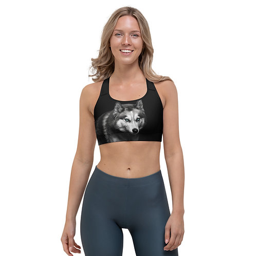 Sports bra - Blue Eyed Wolf - Pilates Strong