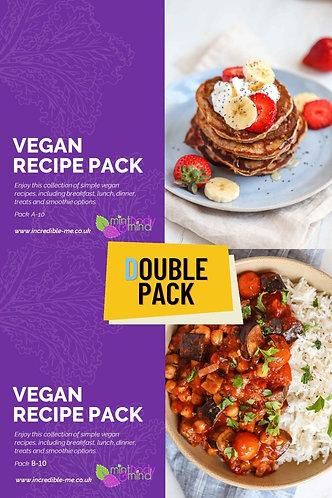 DOUBLE PACK - Recipe packs 1A and 1B - Vegan Recipe Bundle!