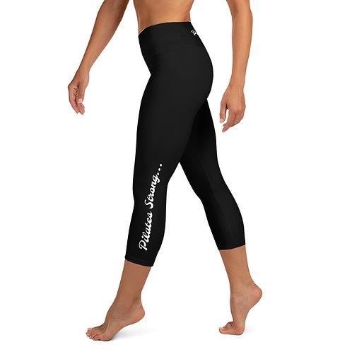 Pilates Strong - Black - Pilates/Yoga Capri Leggings