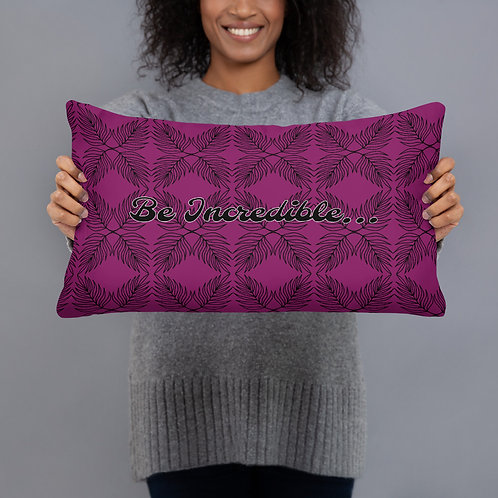 Purple Mint Leaf - Be Incredible - Pillow