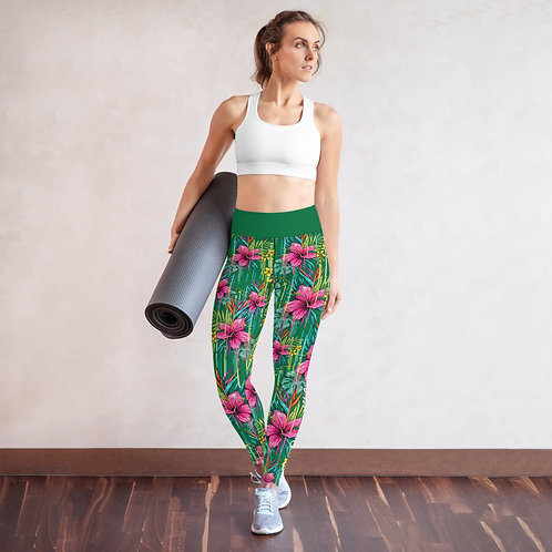 Pink Flower - Be Incredible Pilates & Yoga Leggings