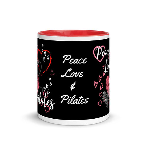 Peace, Love & Pilates - Red/Black Mug
