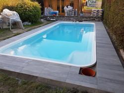 Terrassenplatten Poolumrandung