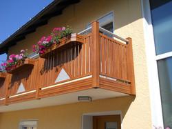 Alu Balkon Holzdekor