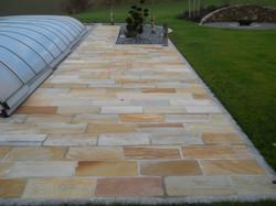 Quarzith Bodenplatten gelb bunt